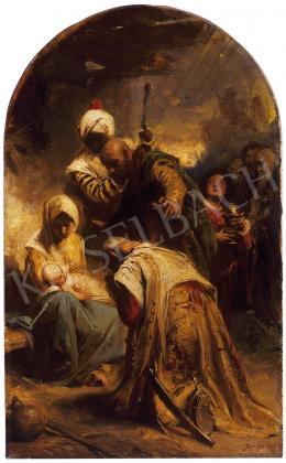 Benczúr Gyula - Napkeleti bölcsek Jézusnál