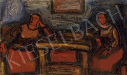 Barcsay, Jenő - Sitting at the table