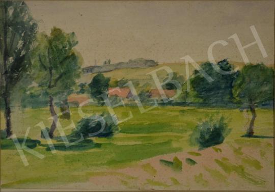 Eladó  Kunffy Lajos - Falu a dombok között, 1910 körül festménye