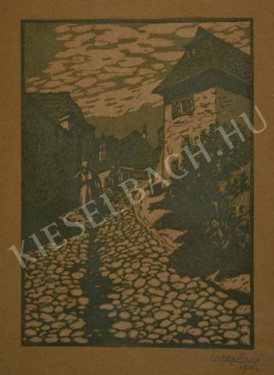 Eladó  Tipary Dezső - Köves utca hegyoldalon festménye