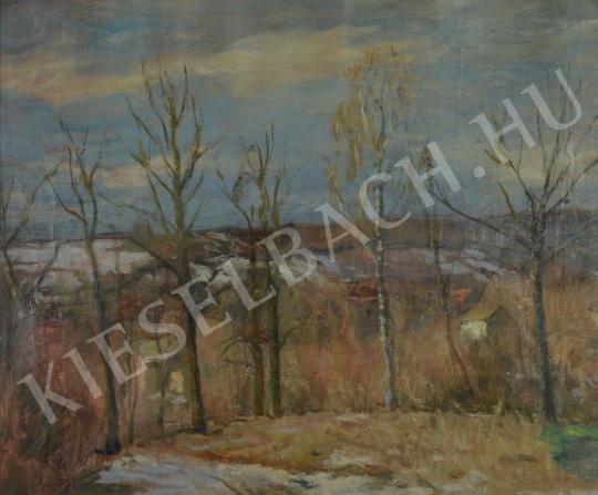 Eladó  Kunffy Lajos - Téli hóolvadás festménye