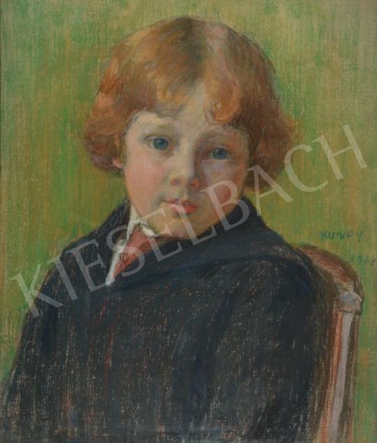 Eladó  Kunffy Lajos - Vörös hajú kisgyerek portréja (A Kunffy-gyerek), 1908 festménye