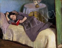 Ismeretlen magyar festő, 1910 körül - Olvasó nő