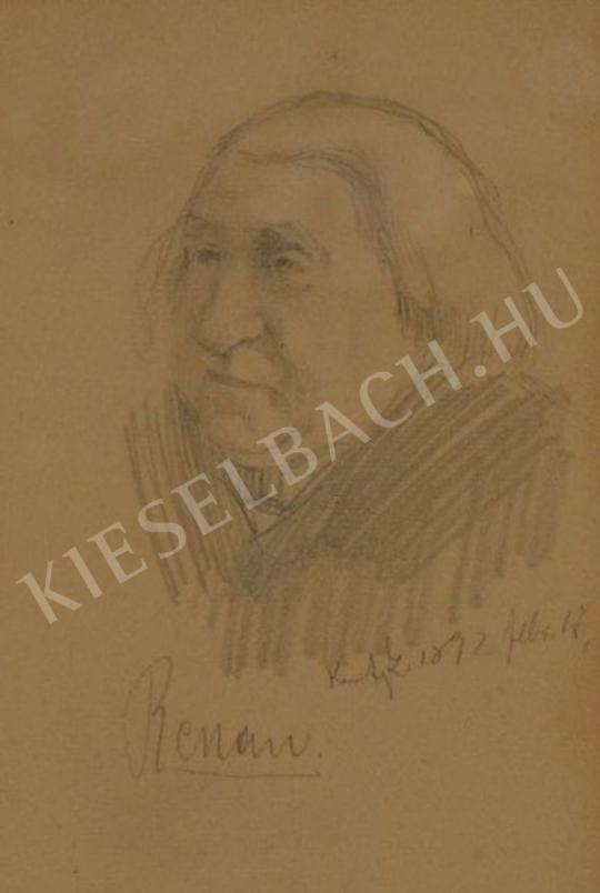 Eladó  Kunffy Lajos - Ernst Renan portréja festménye
