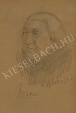 Kunffy Lajos - Ernst Renan portréja