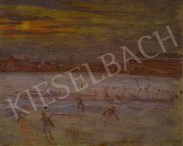 Kunffy, Lajos - Skaters in Winter Sunset, 1910's