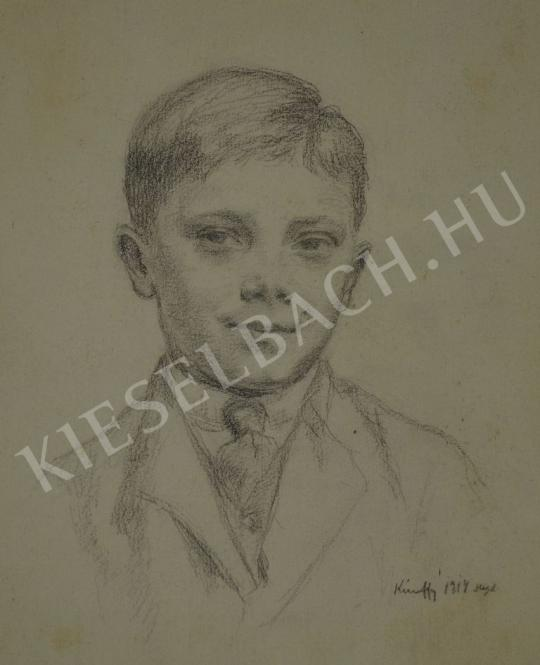Eladó  Kunffy Lajos - Fiú portréja (Kunffy Zoltán) festménye