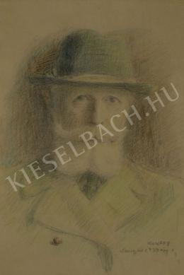 Kunffy Lajos - Önarckép kalapban