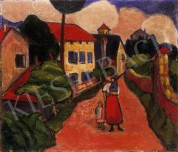 Ismeretlen magyar festő, 1910 körül - Utcarészlet