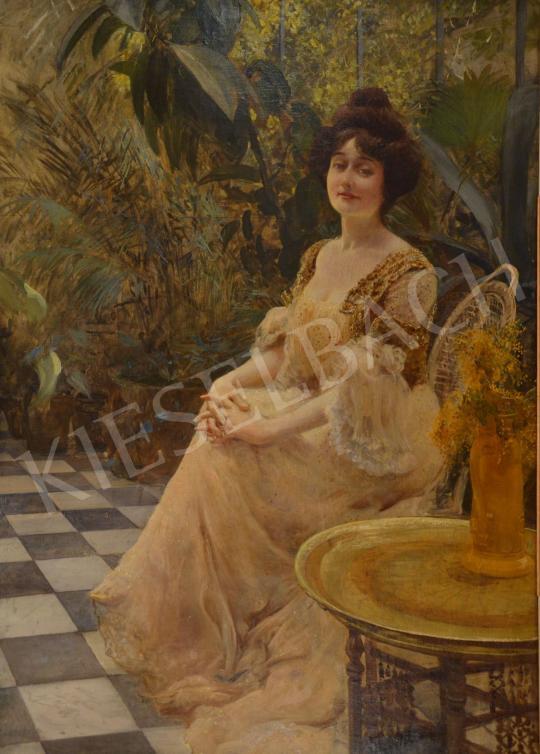 Eladó  Kunffy Lajos - Felesége Párizsban (Kunffy Lajosné), 1902 festménye