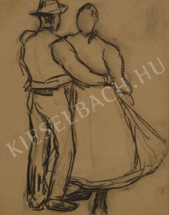 Eladó  Kunffy Lajos - Táncoló parasztpár festménye