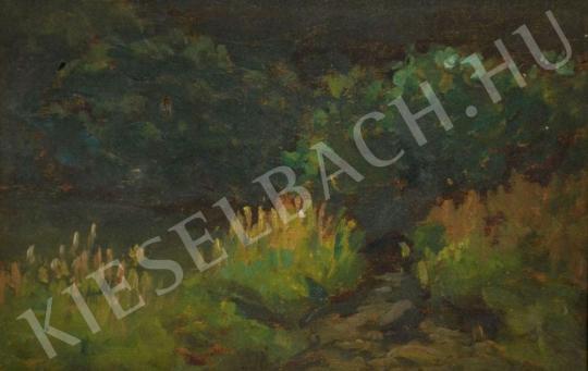 Eladó  Kunffy Lajos - Vízparti növények festménye