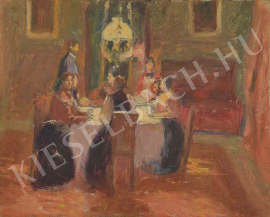 Eladó  Kunffy Lajos - Vacsora a kastélyban festménye