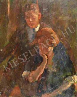 Kunffy Lajos - A művész felesége és fia