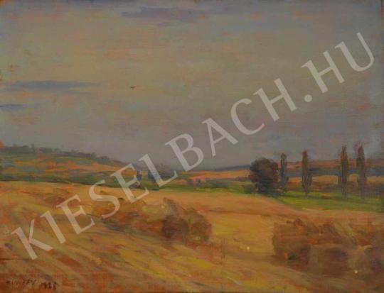 Eladó  Kunffy Lajos - Somogyi táj aratás után festménye