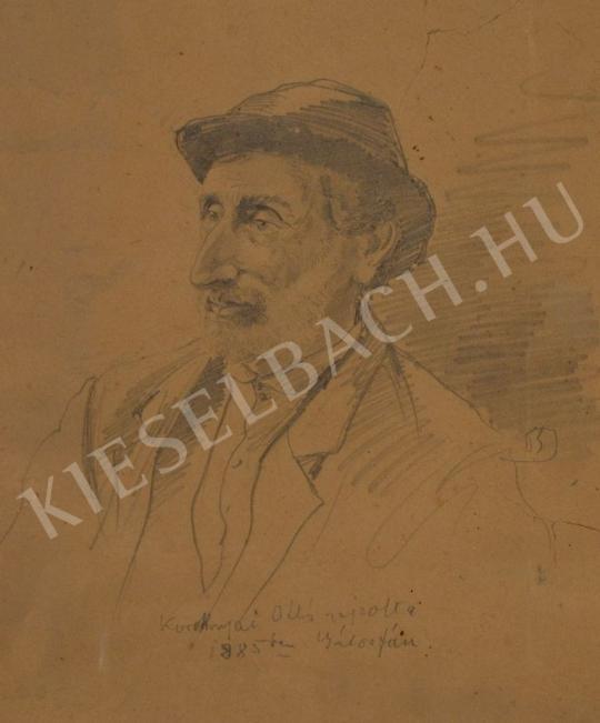 Eladó Koroknyai Ottó - Kalapos, szakállas férfi portréja festménye