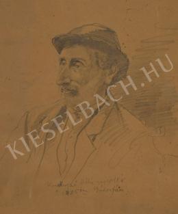 Koroknyai Ottó - Kalapos, szakállas férfi portréja