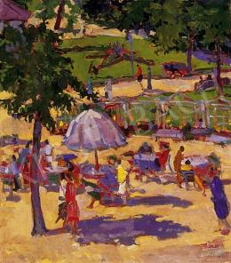 Ismeretlen festő, 1910-es évek - Vasárnap délután a parkban