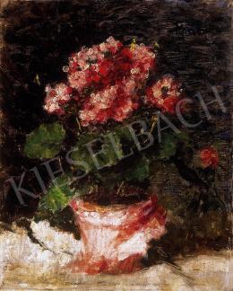 Koszta József - Rózsaszínű muskátli (1930-as évek)