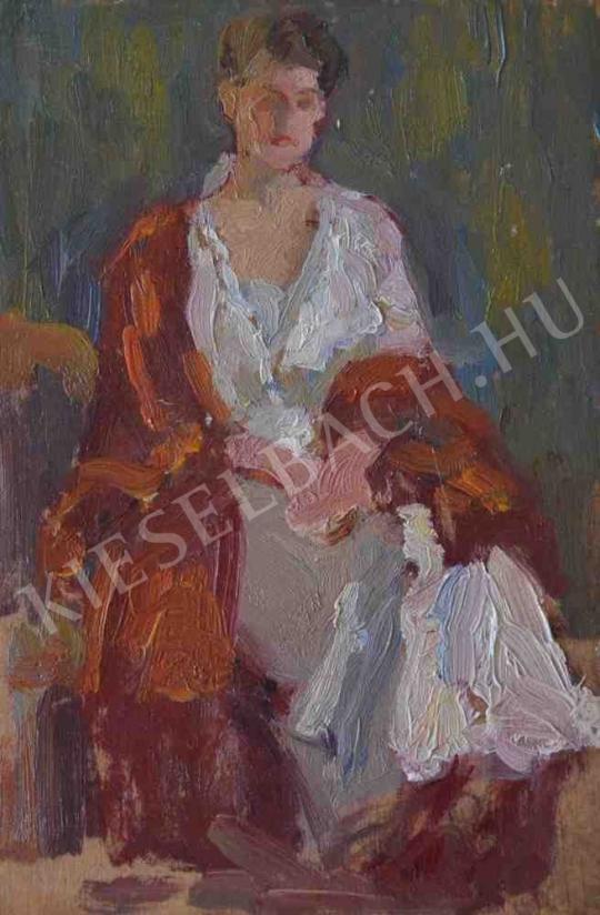 Eladó  Kunffy Lajos - Arisztokrata hölgy (Portrétanulmány) festménye