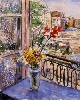 Jobbágyi Gaiger Miklós - Párizsi műterem ablakából