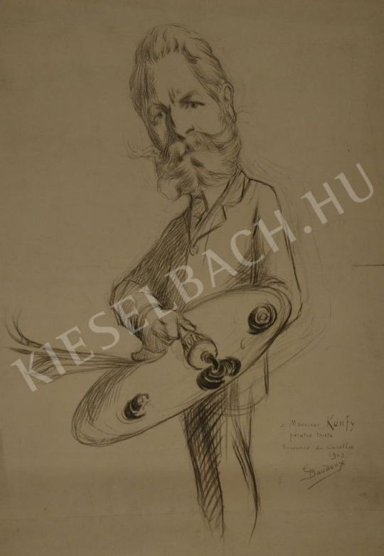 Eladó Baudoux, Émile - Kunffy Lajos karikatúrája festménye