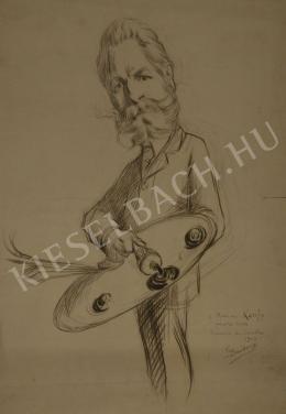 Baudoux, Émile - Kunffy Lajos karikatúrája