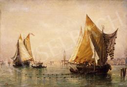Ismeretlen olasz festő, 1920 körül - Velencei halászok