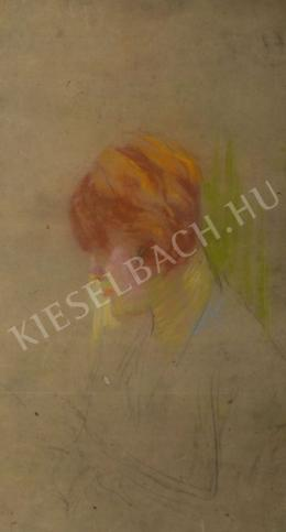 Kunffy Lajos - Női portré (Vörös hajjal)