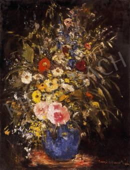 Iványi Grünwald Béla - Mezei virágok kék vázában