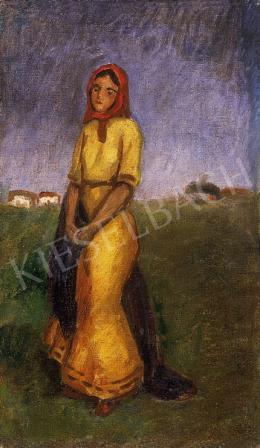Iványi Grünwald, Béla - Bride in yellow dress