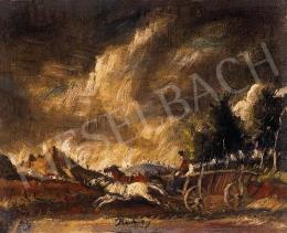 Rudnay Gyula - Tájkép lovasokkal