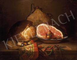 Ujházy Ferenc - Asztali csendélet sonkával