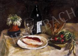 Frank, Frigyes - Still life on the table