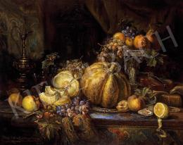 Mayer, Alajos - Still life on the table