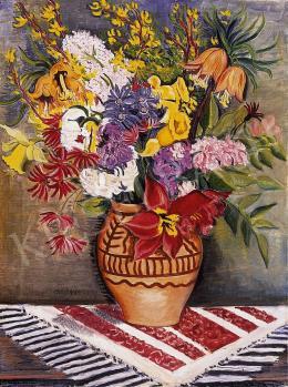 Vörös Géza - Virágcsokor vázában