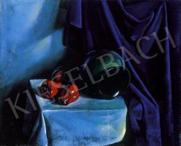 Patkó, Károly - Still life with blue drapery