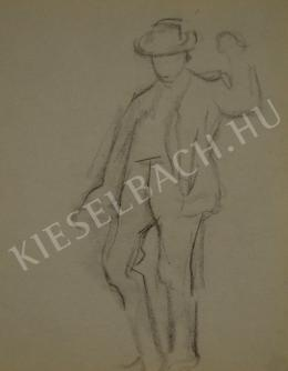 Kunffy, Lajos - Dancing Boy Stepping Forward (1910s)