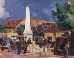Pólya Tibor - A szolnoki piactéren