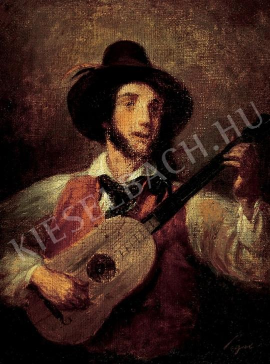 For sale  Unknown painter from Middle-Europe, 18th century - Italian musician 's painting