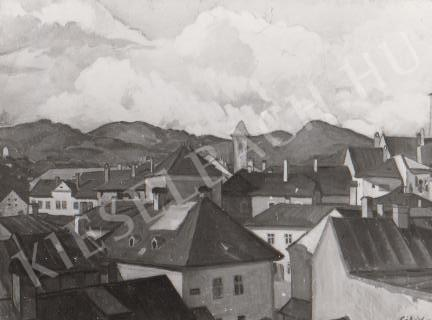 Gábor Jenő - Városkép festménye