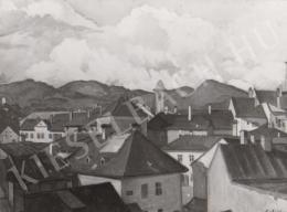 Gábor Jenő - Városkép (1918)