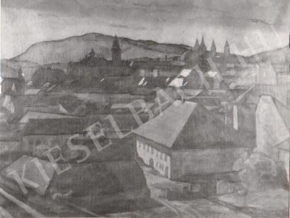Gábor Jenő - Pécsi látkép festménye