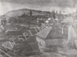 Gábor Jenő - Pécsi látkép (1919)