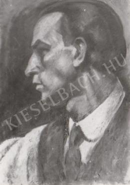 Gábor Jenő - Kék önarckép profil (1920)
