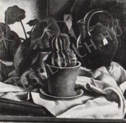 Gábor Jenő - Kaktuszos csendélet (1920)