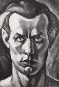 Gábor Jenő - Önarckép festménye
