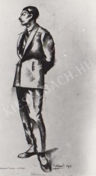 Gábor Jenő - Molnár Farkas portréja festménye
