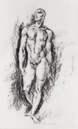 Gábor Jenő - Lépő férfiakt (1922)
