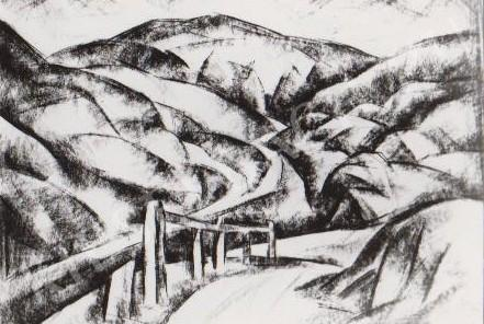 Gábor Jenő - Hegyi út festménye